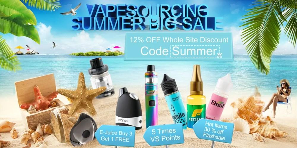Vape Sourcing — Summer Vape Sale Banner