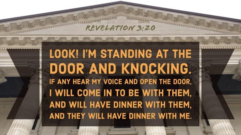 Verse Image for Revelation 3:20 - 16x9