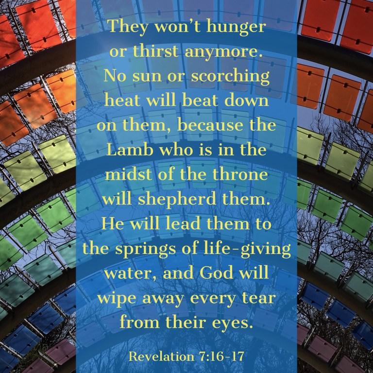 Verse Image for Revelation 7:16-17 - 1x1