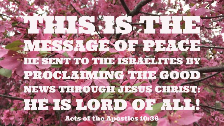 Verse Image for Acts of the Apostles 10:36 - 16x9