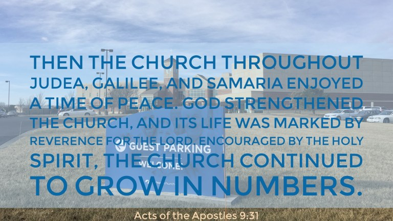 Verse Image for Acts of the Apostles 9:31 - 16x9