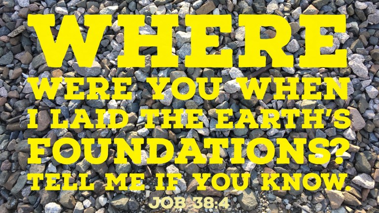 Verse Image for Job 38:4 - 16x9