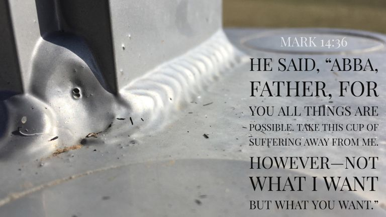 Verse Image for Mark 14:36 - 16x9
