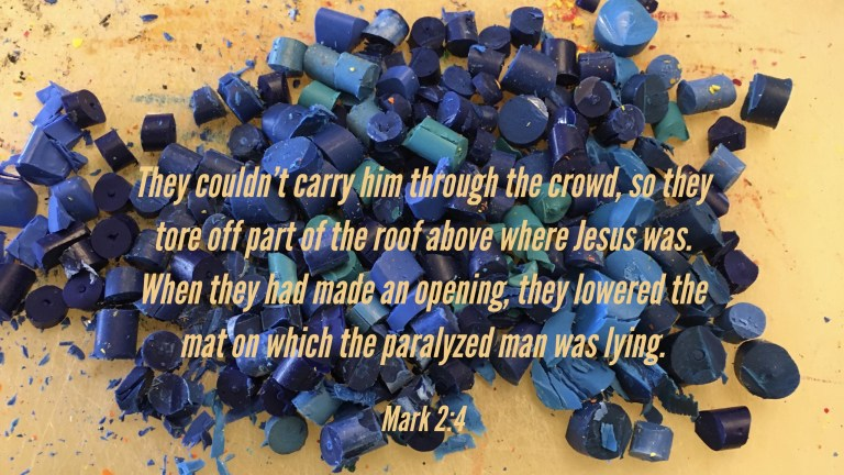 Verse Image for Mark 2:4 - 16x9