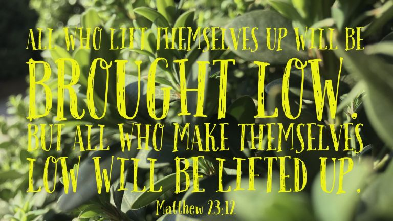 Verse Image for Matthew 23:12 - 16x9