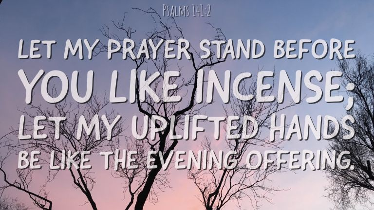 Verse Image for Psalms 141:2 - 16x9