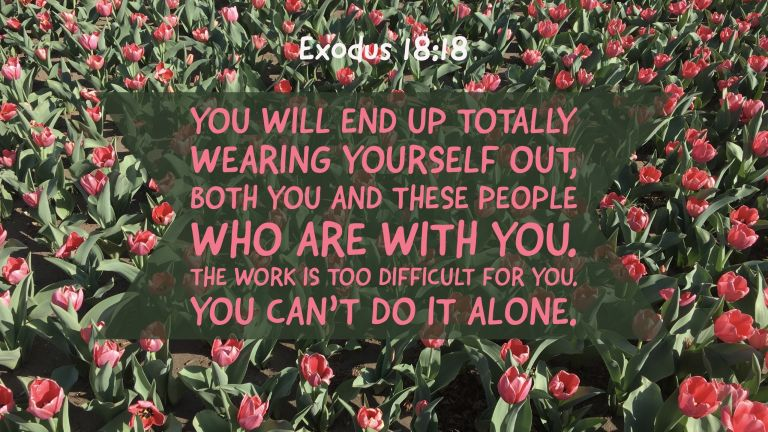 Verse Image for Exodus 18:18 - 16x9