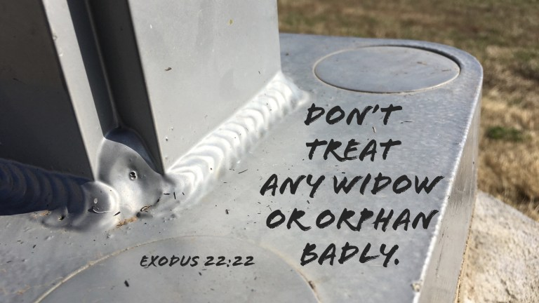 Verse Image for Exodus 22:22 - 16x9