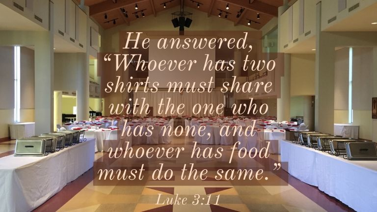 Verse Image for Luke 3:11 - 16x9