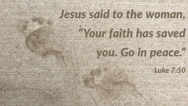 Verse Image for Luke 7:50 - 16x9