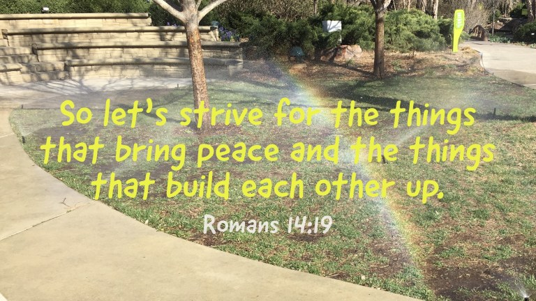 Verse Image for Romans 14:19 - 16x9