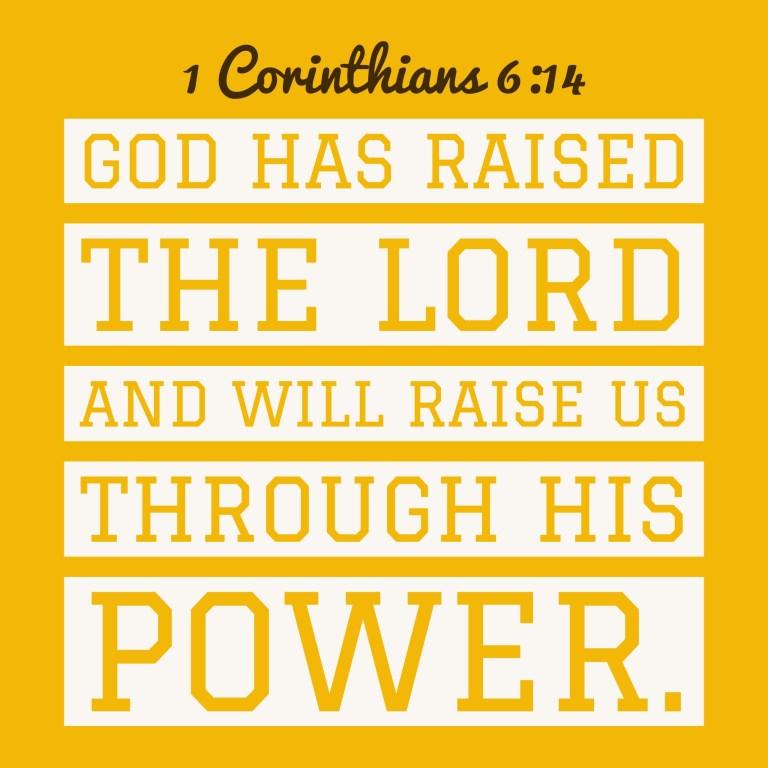 Verse Image for 1 Corinthians 6:14 - 1x1