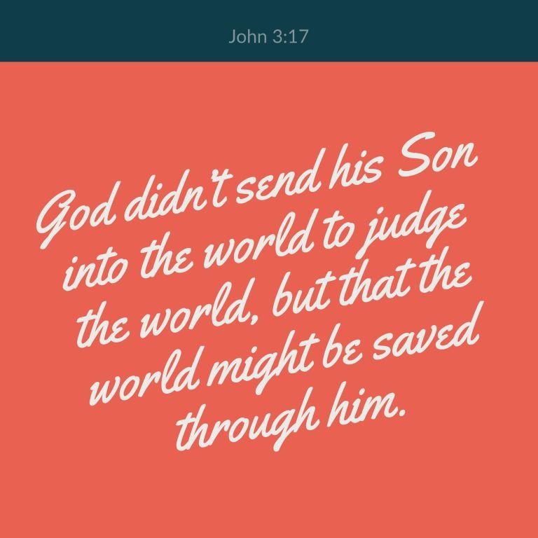 Verse Image for John 3:17 - 1x1