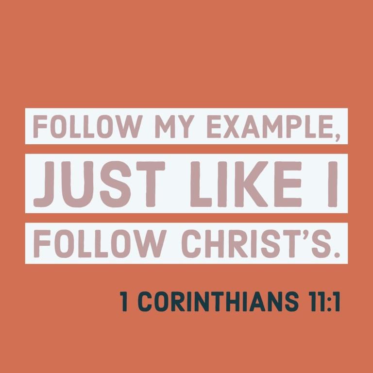 Verse Image for 1 Corinthians 11:1 - 1x1
