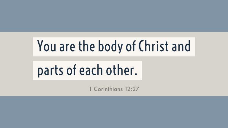 Verse Image for 1 Corinthians 12:27 - 16x9