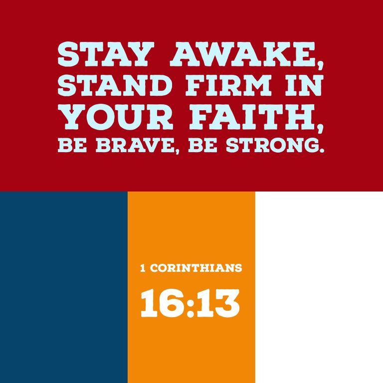 Verse Image for 1 Corinthians 16:13 - 1x1