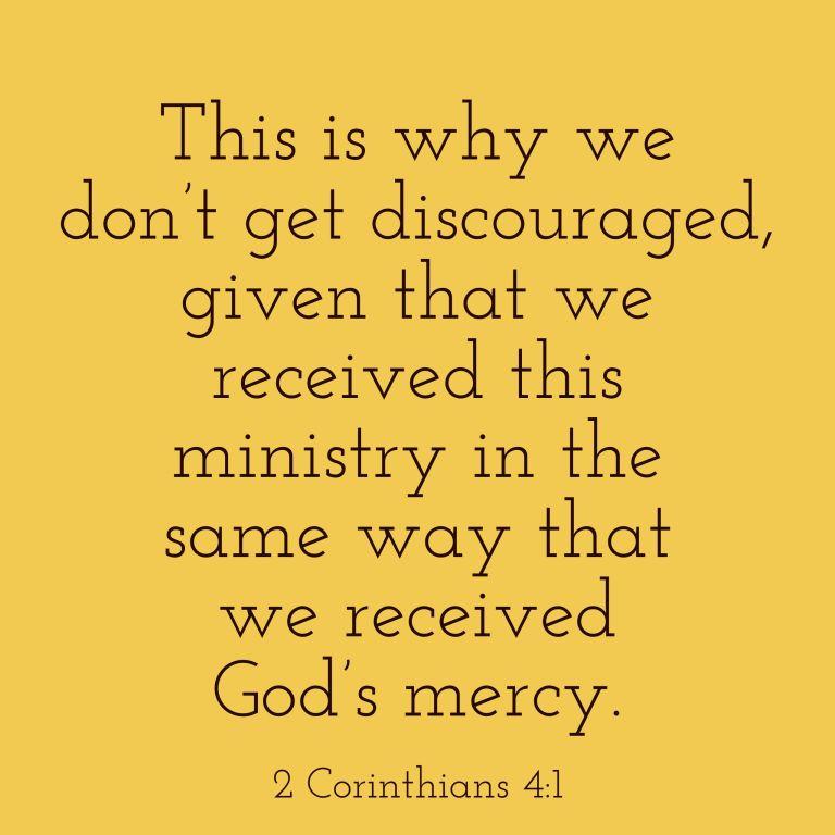 Verse Image for 2 Corinthians 4:1 - 1x1