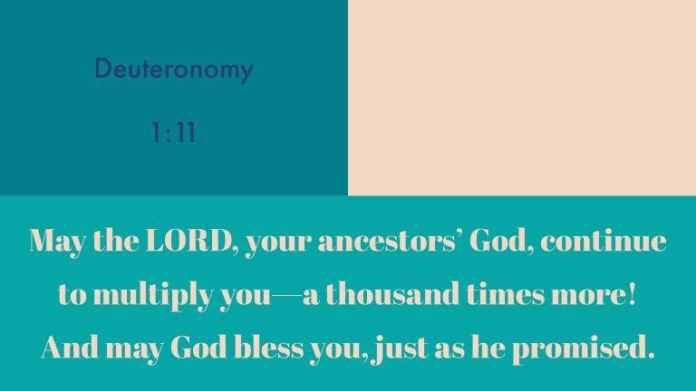 Verse Image for Deuteronomy 1:11 - 16x9