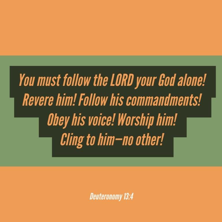 Verse Image for Deuteronomy 13:4 - 1x1