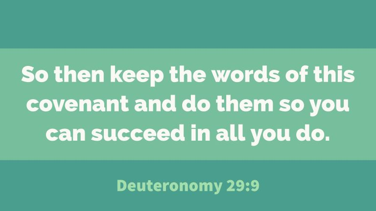 Verse Image for Deuteronomy 29:9 - 16x9