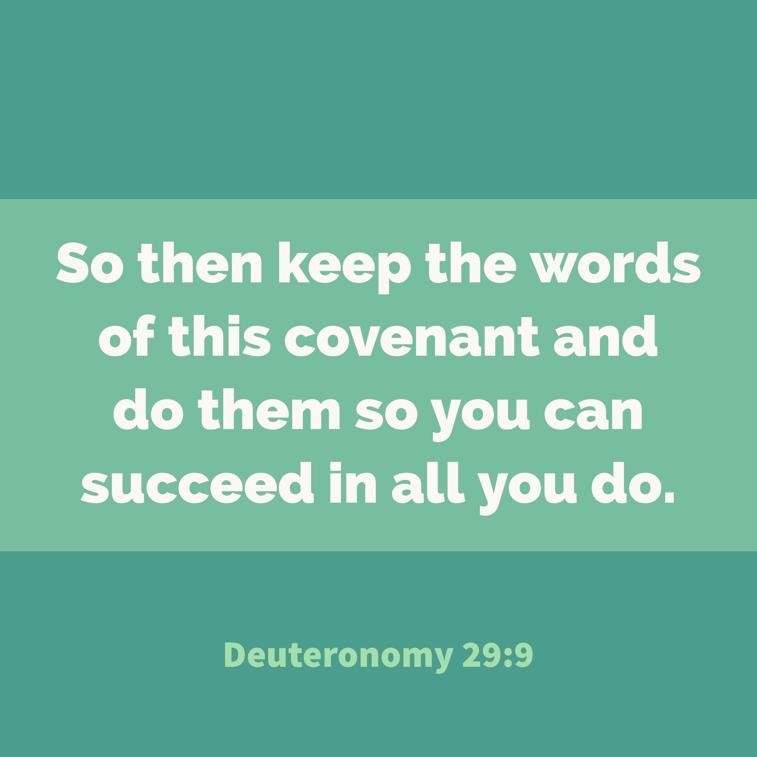 Verse Image for Deuteronomy 29:9 - 1x1