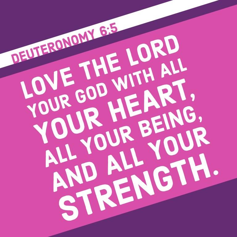 Verse Image for Deuteronomy 6:5 - 1x1