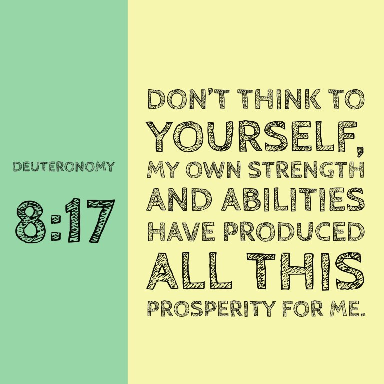 Verse Image for Deuteronomy 8:17 - 1x1