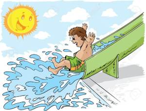 14036852-Boy-on-waterslide-Stock-Vector-slide-water-swim