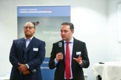 Andreas Berger, Vorstand bei AGCS, und Solmaz Altin, Chief Digital Officer bei der Allianz SE