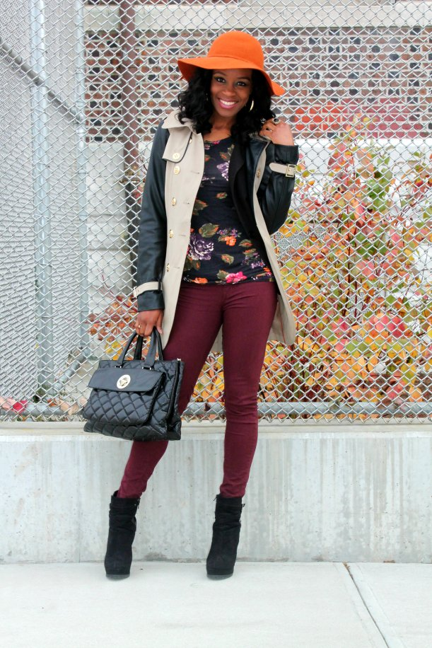 Burnt orange and burgundy for fall