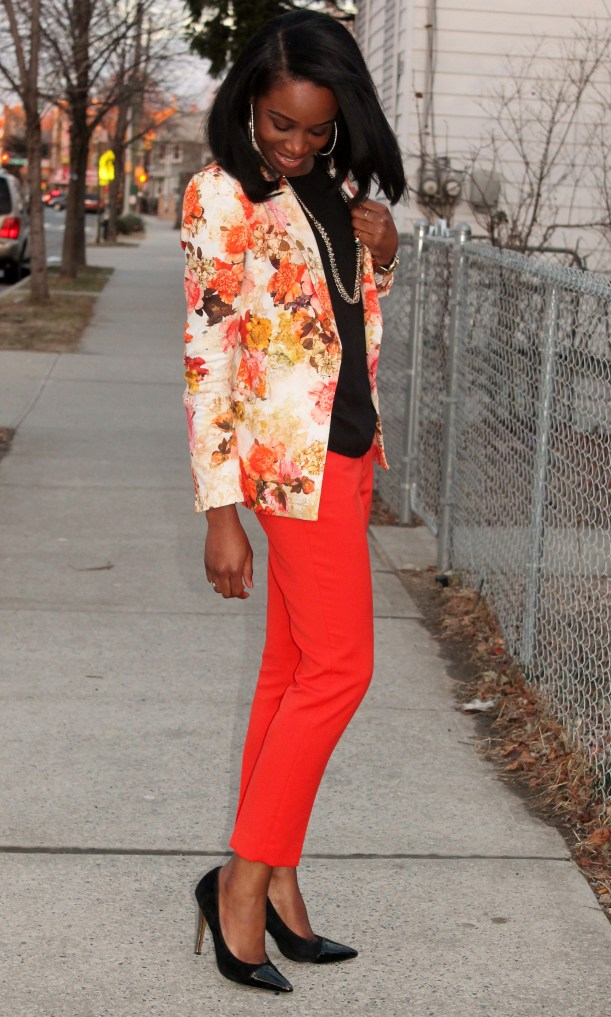 Floral blazer + ankle trousers (3)