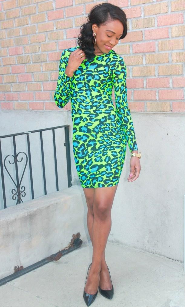 Green & blue leopard dress (7)