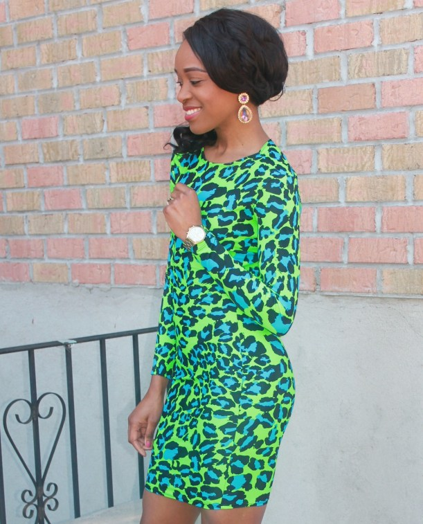 Green & blue leopard dress (9)