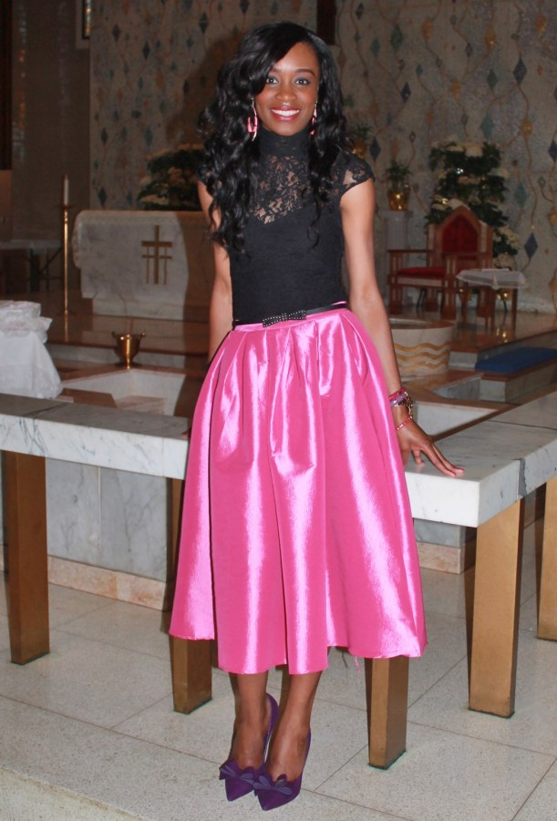 Full skirt & lace top (7)