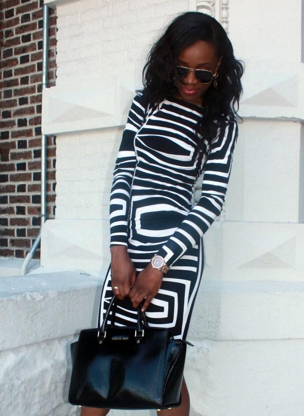 Asos black and white backless midi dress (11)