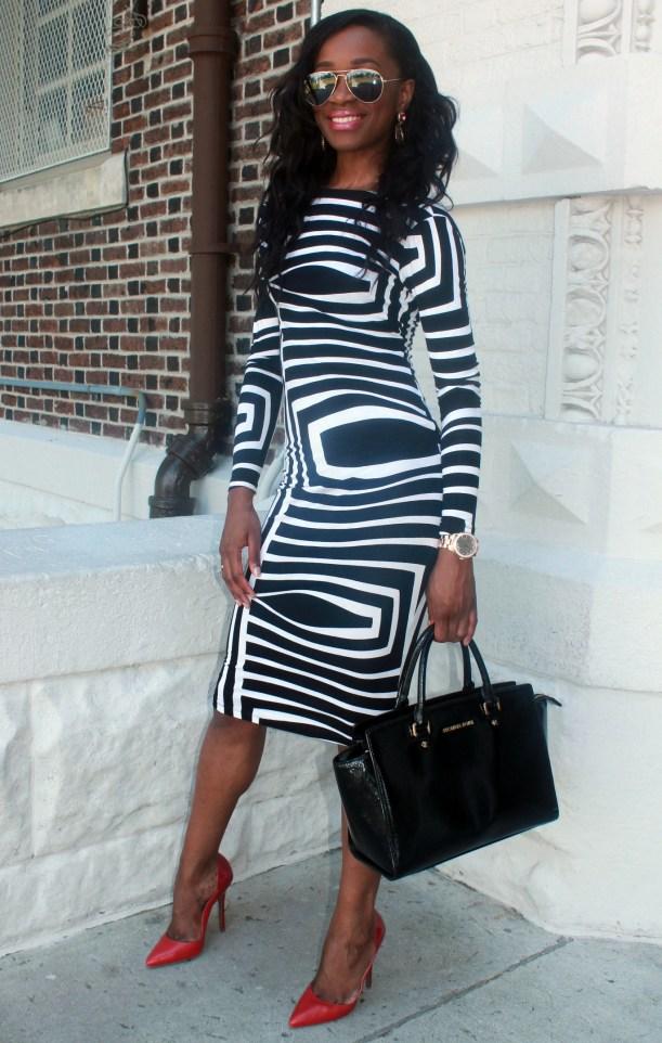 Asos black and white backless midi dress (2)