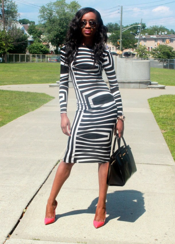 Asos black and white backless midi dress (3)