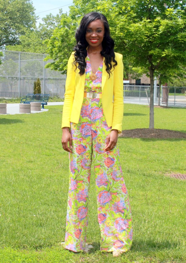 Floral jumpsuit + fitted blazer (11)