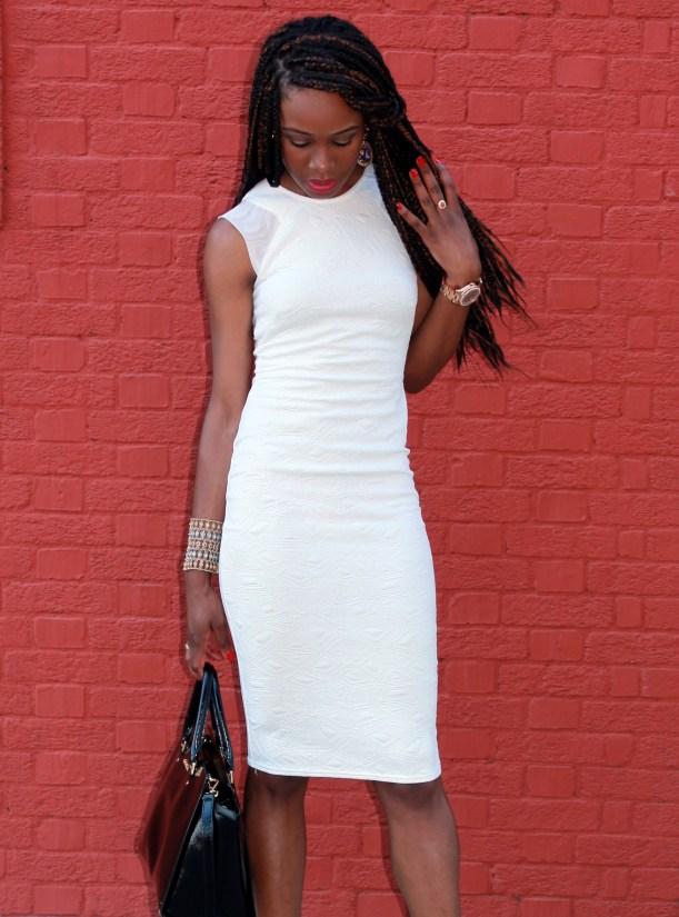 Little white  bodicon dress (15)