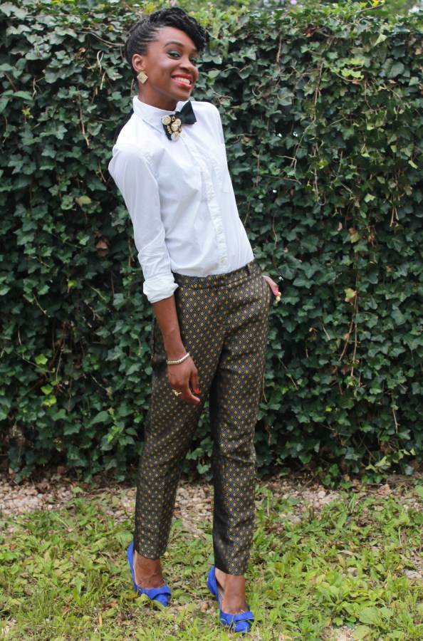 Printed trousers & bedazzled tie (11)