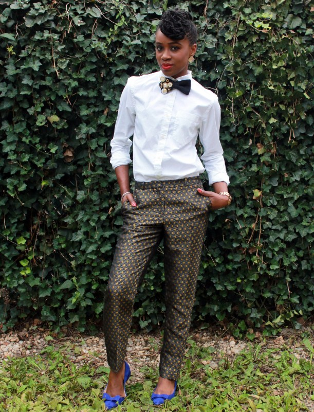 Printed trousers & bedazzled tie (13)