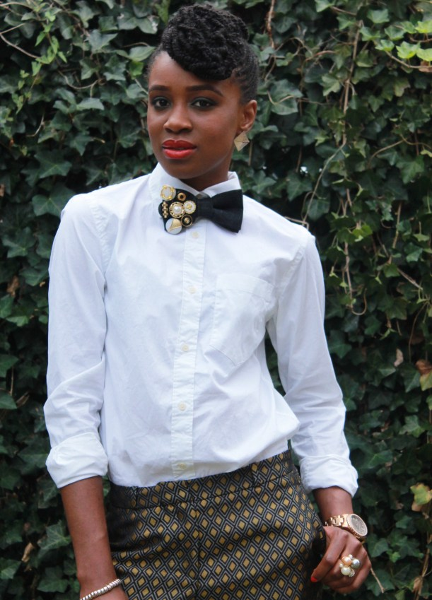 Printed trousers & bedazzled tie (3)