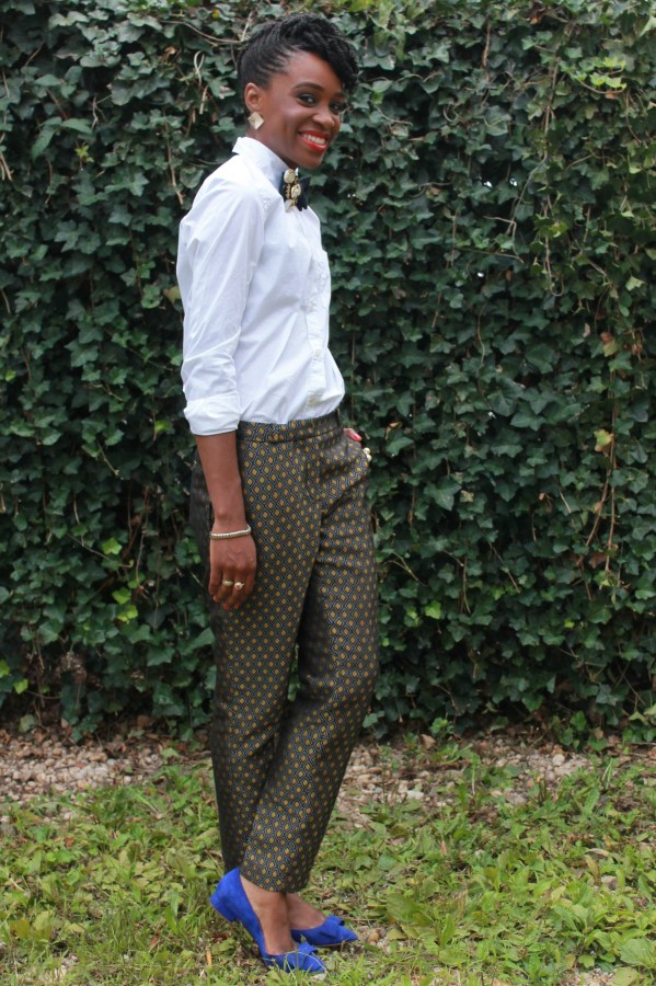 Printed trousers & bedazzled tie (9)
