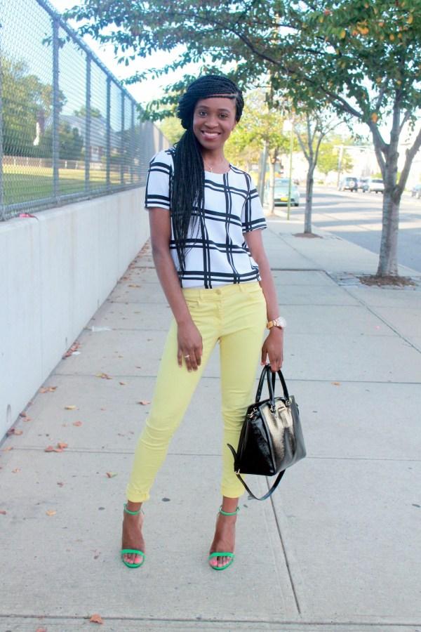 Checked shirt + yellow denim (3)