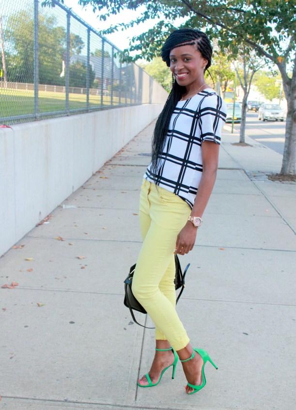 Checked shirt + yellow denim (4)