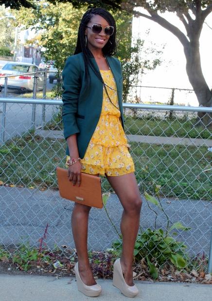 Summer dress + fall colors (1)