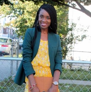 Summer dress + fall colors (3)