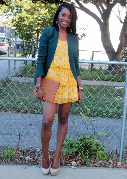 Summer dress + fall colors (5)