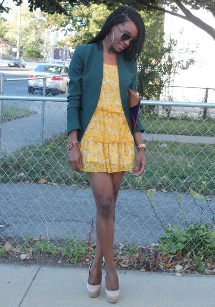 Summer dress + fall colors (9)