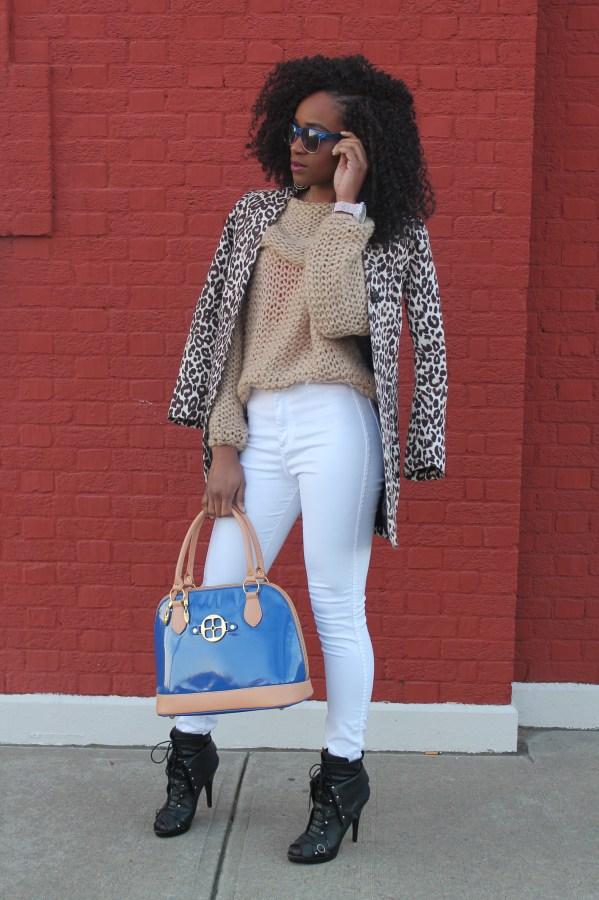 American Apparel high waist white jeans & sheinside sweater (4)